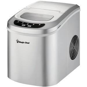 MAGIC CHEF 27lb-Capacity Portable Mini Ice Maker MCIM22SV