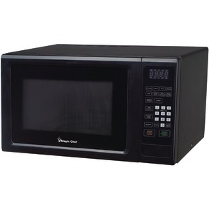 MAGIC CHEF 1.1 Cubic-ft 1000-Watt Microwave with Digital Touch (Black) MCM1110B