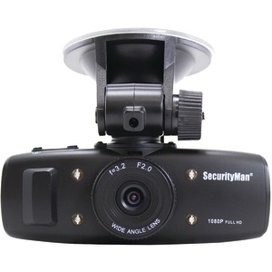 SECURITY MAN Carcam HD Car Camera with Impact-Sensing Recording CARCAM-SD