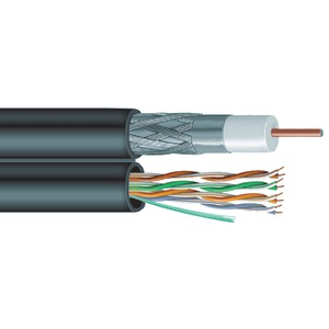 VEXTRA Siamese RG6 Coaxial-CAT-5E Cable 1000ft V6C5E