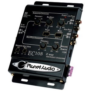 PLANET AUDIO 2-Way Electronic Crossover EC10B