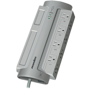 PANAMAX 8-Outlet PowerMax(R) PM8-EX Surge Protector (Without Satellite & CATV Protection) PM8-EX