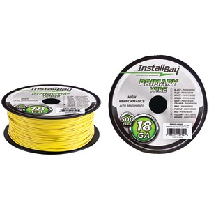 INSTALL BAY 18-Gauge Primary Wire 500ft (Yellow) PWYL18500