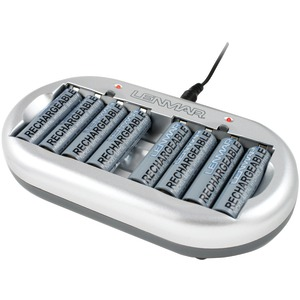 8-Station AAA-AA AC Charger with Eight 2000mAh NiMH Batteries