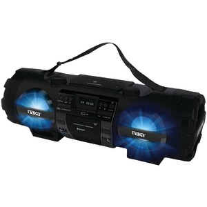 NAXA MP3-CD Bass Reflex Boom Box & PA System with Bluetooth(R) NPB-262