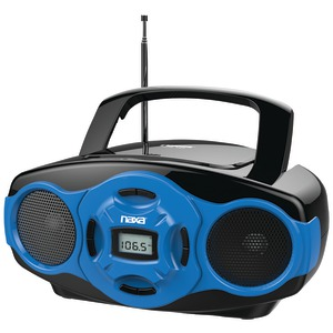 NAXA Portable MP3-CD Mini Boom Box & USB Player (Blue) NPB-264 BL
