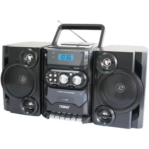 NAXA Portable CD-MP3 Player with AM-FM Radio Detachable Speakers Remote & USB Input NPB428