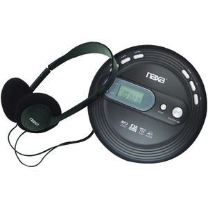 NAXA Slim Personal MP3-CD Player with FM Radio NPC330
