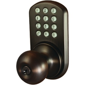MORNING INDUSTRY INC Touchpad Electronic Door Knob (Oil Rubbed Bronze) HKK-01OB