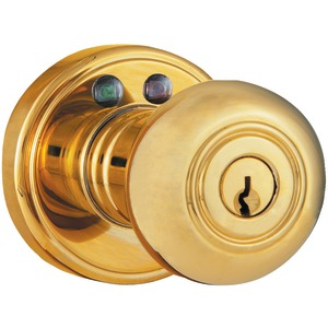 MORNING INDUSTRY INC Remote Control Electronic Entry Knob (Polished Brass Finish) RKK-01P