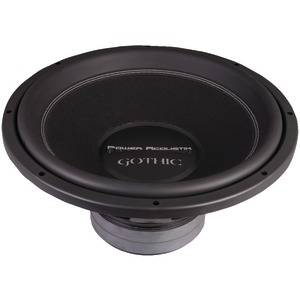 POWER ACOUSTIK Gothic Series 2Ω Dual Voice-Coil Subwoofer (15 Inch. 3000 Watts) GW3-15