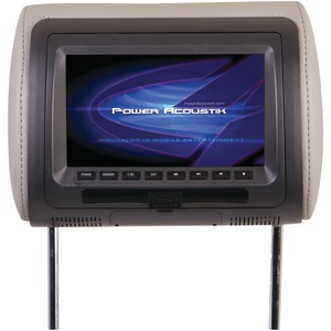 POWER ACOUSTIK 7 Inch. Universal Headrest Monitor with DVD & IR Transmitter HDVD-71CC