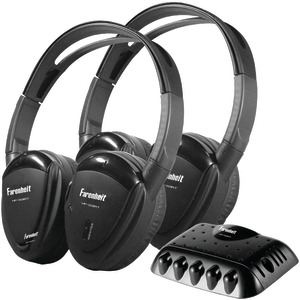 POWER ACOUSTIK 2 Sets of Single-Channel IR Wireless Headphones with Transmitter HP-22IRT