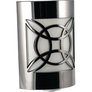 GE Auto Geometric Faux Nickel LED CoverLite(TM) Night Light 11358
