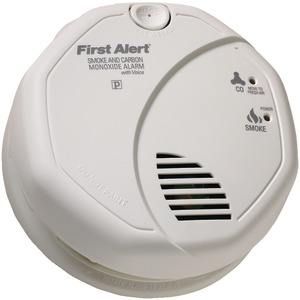 FIRST ALERT Battery-Operated Combination Smoke-Carbon Monoxide Alarm with Voice Location SCO7CN