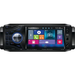 POWER ACOUSTIK 4.5 Inch. Single DIN In-Dash Oversized & Detachable LCD Touchscreen DVD Receiver with Bluetooth(R) PD 454B