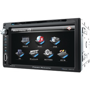 POWER ACOUSTIK 6.5 Inch. Double-DIN In-Dash LCD Touchscreen DVD Receiver (With Bluetooth(R)) PD 651B