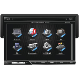 POWER ACOUSTIK 7 Inch. Single-DIN In-Dash TFT-LCD Touchscreen DVD Receiver (With Bluetooth(R)) PD-710B