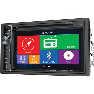 POWER ACOUSTIK 6.2 Inch. Double-DIN In-Dash GPS Navigation LCD Touchscreen DVD Receiver with Bluetooth(R) PDN 626B