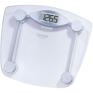 TAYLOR Chrome & Glass Lithium Digital Scale 7506