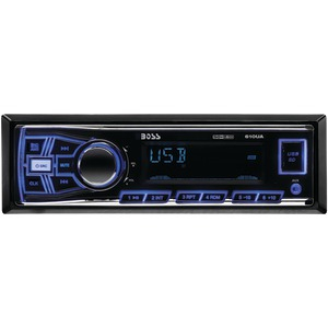 BOSS AUDIO Single-DIN In-Dash Mechless AM-FM Receiver (Without Bluetooth(R)) 610UA