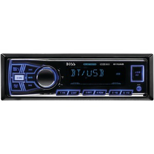 BOSS AUDIO Single-DIN In-Dash Mechless AM-FM Receiver (With Bluetooth(R)) 611UAB