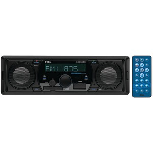 BOSS AUDIO Single-DIN In-Dash Mechless AM-FM Receiver with Bluetooth(R) & Built-In Speakers 630UASB