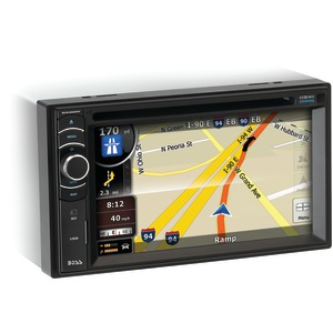 BOSS AUDIO 6.2 Inch. Double-DIN In-Dash DVD Receiver with Navigation Full iPod(R)Control & Bluetooth(R) BV9386NV