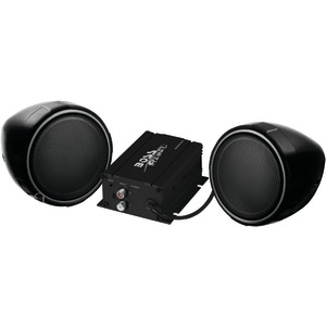 BOSS AUDIO All-Terrain 600-Watt Black Speaker & Amp System (Without Bluetooth(R)) MCBK400