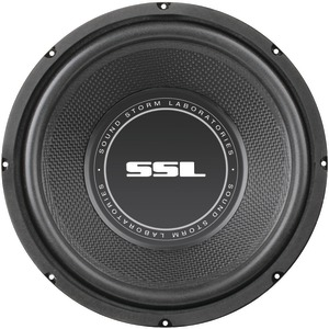 SOUNDSTORM SS Series High-Power Single 4Ω Voice-Coil Subwoofer with Poly-Injection Cone (10 Inch. 600 Watts) SS10