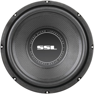 SOUNDSTORM SS Series High-Power Single 4Ω Voice-Coil Subwoofer with Poly-Injection Cone (8 Inch. 400 Watts) SS8