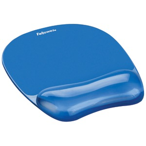 FELLOWES Blue Crystal Mouse Pad 91141