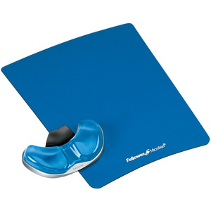 FELLOWES Gliding Palm Support with Microban(R) Protection (Blue) 9180601