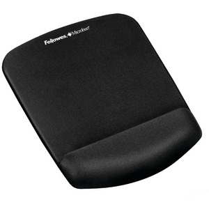 FELLOWES Plush Touch Mouse Pad with Wristrest (Black) 9252001