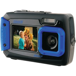 COLEMAN 20.0 Megapixel Duo2 Dual-Screen Waterproof Digital Camera (Blue) 2V9WP-BL