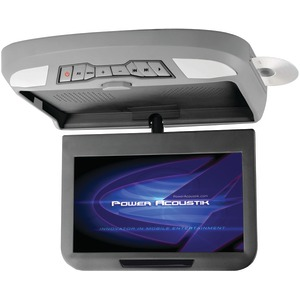 POWER ACOUSTIK 10.2 Inch. Ceiling-Mount Swivel Monitor with DVD Player IR & FM Transmitters & Interchangeable Skins PMD-102X
