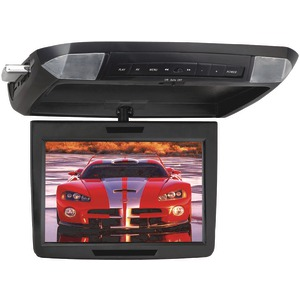 POWER ACOUSTIK 11.2 Inch. Widescreen Ceiling-Mount Monitor with DVD Player IR Transmitter & Interchangeable Skins PMD-112CMX
