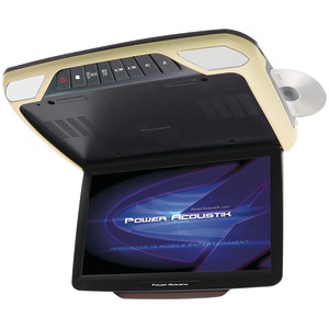 POWER ACOUSTIK 14.3 Inch. Ceiling-Mount DVD Entertainment System with 3 Interchangeable Color Skins & Mobile Link PMD_143H