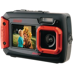COLEMAN 20.0 Megapixel Duo2 Dual-Screen Waterproof Digital Camera (Red) 2V9WP-R