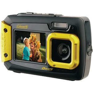 COLEMAN 20.0 Megapixel Duo2 Dual-Screen Waterproof Digital Camera (Yellow) 2V9WP-Y