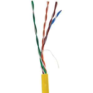 VERICOM CAT-5E UTP Solid Riser CMR Cable 1000ft Pull Box (Yellow) MBW5U-01443