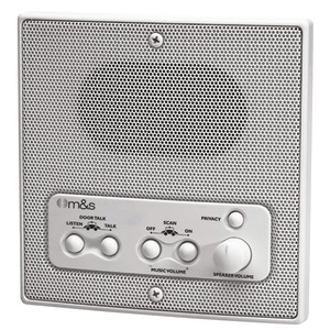 M&S SYSTEMS Weather-Resistant Remote Station Speaker (white) DMC1RW