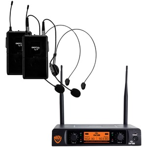 NADY(R) Dual-Transmitter Digital Wireless Microphone System (2 Digital LT(TM) HM-3 Headsets) DW-22-HM-ANY