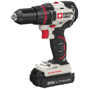 PORTER-CABLE(R) 20-Volt MAX* Compact Cordless & Brushless Drill PCC608LB