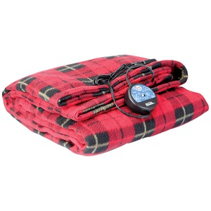 MAXSA INNOVATIONS Comfy Cruise(R) Heated Travel Blanket (Red Plaid) 20014