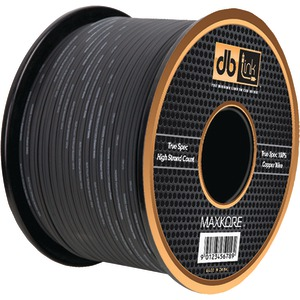 DB LINK Maxkore(TM) Black Soft-Touch 100 Percent OFC Copper Speaker Wire (10 Gauge 100ft) MKSW10BK100