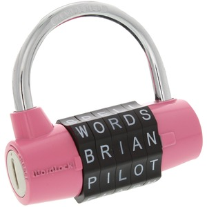 WORDLOCK(R) 5-Dial Combination Padlock (Pink) PL-001-PK