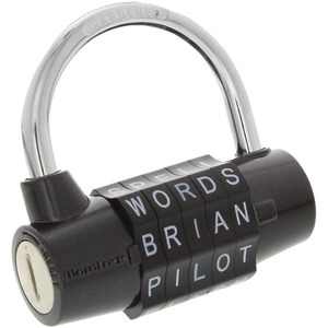 WORDLOCK(R) 5-Dial Combination Padlock (Black) PL-004-BK