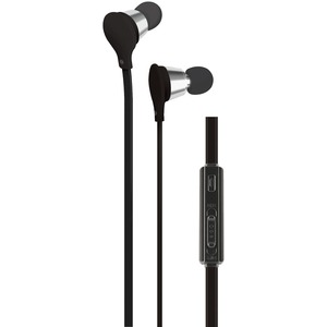 AT&T(R) Jive Noise-Isolating Earbuds with Microphone & Volume Control (Black) EBV01-BLK