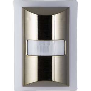 GE(R) 60-Lumen Motion-Boost LED Night Light (Brushed Nickel) 36269